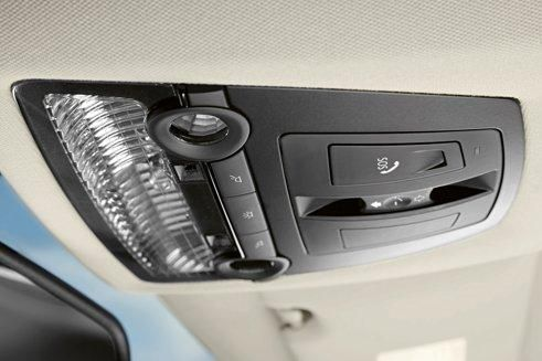 The BMW system, a little more discreet than the equivalent system developed by French manufacturers