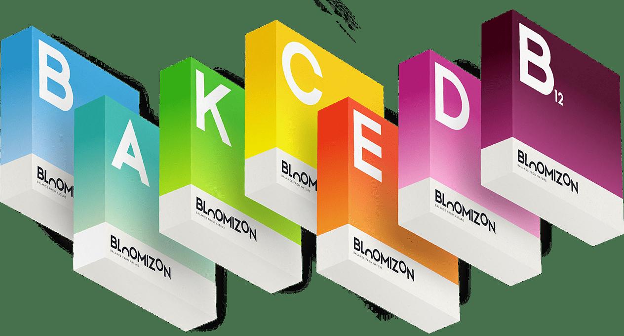 bloomizon and vitamins boxes